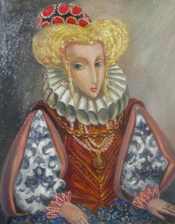 Princess Ophelia 2018 27x25 Original Painting by Alexander Kanchik