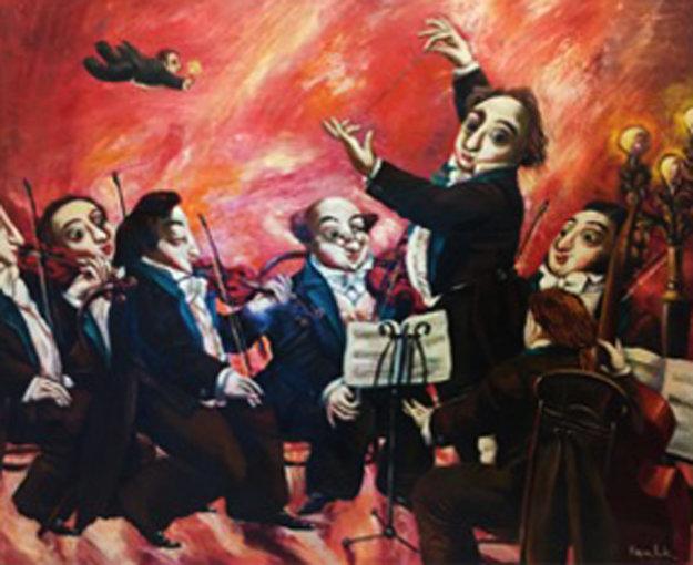Mozart Series 1993 41x43 Original Painting by Alexander Kanchik