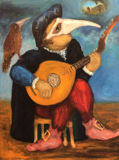Masked Musicians 2012 39x32 Original Painting - Mark Kanovich