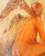l' Ange - Mixed Media on Wood 42x23 Original Painting by Mark Kanovich - 2