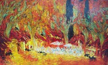 Cipres Provançal  2018 39x63 Original Painting - Mark Kaplan