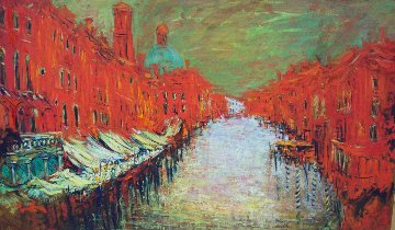 Venice November 2018 38x63  Huge Original Painting - Mark Kaplan