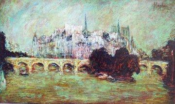 Notre Dame De Paris on ÎLe De La Cité 2015 38x64 Original Painting by Mark Kaplan
