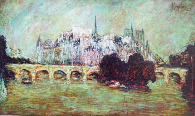 Notre Dame De Paris on ÎLe De La Cité 2015 38x64 Original Painting by Mark Kaplan