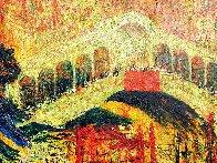 Rialto Domenica 2006 54x73 Super Huge Original Painting by Mark Kaplan - 4