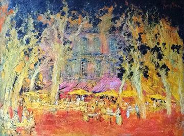 Saint-Tropez En Septembre, France 1999 42x53 Original Painting by Mark Kaplan