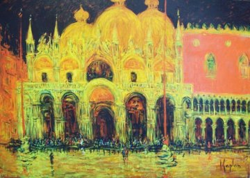 Allagamento San Marco 2012 68x44 Huge Original Painting - Mark Kaplan