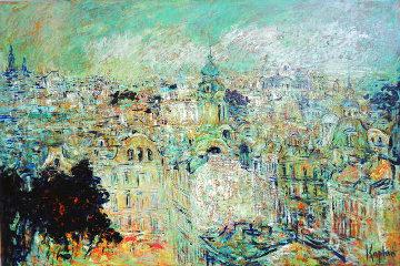 Languid June on Petrogradskaya Side 2013 38x57 Super Huge Original Painting - Mark Kaplan