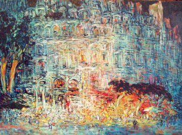 Noctulienes De VII 2012 44x63 Huge Original Painting - Mark Kaplan