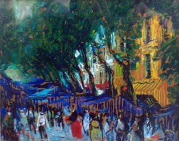 Marche A Toulon 2014 8x13  Original Painting by Mark Kaplan