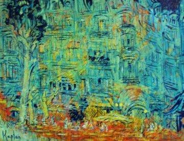 3 Days in Cannes 2014 31x39 Huge Original Painting - Mark Kaplan