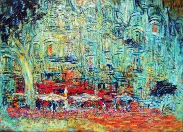 Anniversaire De Fanny 2015 28x39  Original Painting - Mark Kaplan