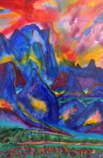 Rhythmic Impressions Watercolor 1993 69x49 Watercolor by Phyllis Kapp