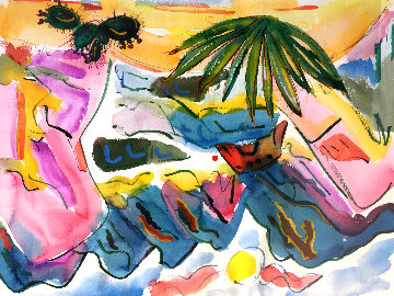 Untitled Watercolor 1990 32x25 Watercolor - Phyllis Kapp