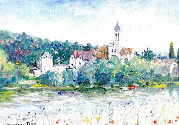 Untitled Painting 2001 12x14 Original Painting - Yetvart  Kaprielian