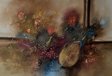 Untitled Painting 31x51 Original Painting - Janos Kardos