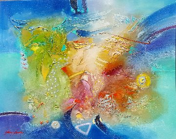 Summer Mykonos 2017 40x50 Original Painting - Janos Kardos