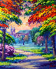 Park in France 2016 25x21 Original Painting by Janos Kardos - 0