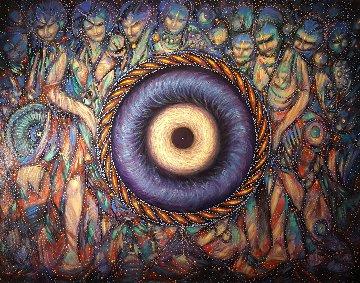 Eye 2017 40x52 Original Painting - Janos Kardos