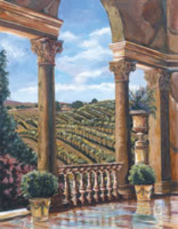 Vineyard Rhapsody 51x41 Original Painting - Karen Stene