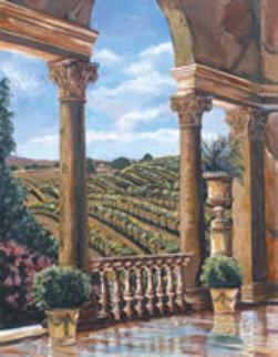 Vineyard Rhapsody 51x41 Original Painting by Karen Stene