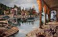 L'Isola Bella 54x71 Original Painting - Karen Stene