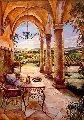 Loggia in the Valley 51x66 Original Painting - Karen Stene