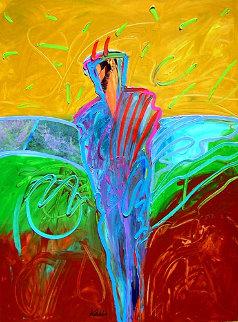 Spring at Indian Gardens Angel Trail 2007 40x30 Original Painting - Peter Karis