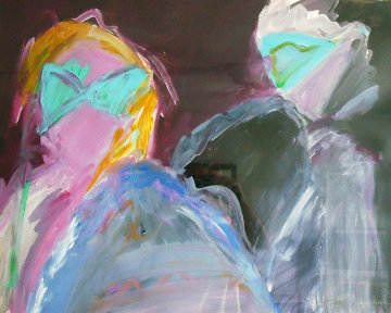 Masquerade IV 1989 32x39 Original Painting by Peter Karis