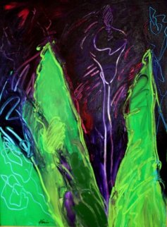 Calla Lily Field 2012 40x30 Original Painting - Peter Karis