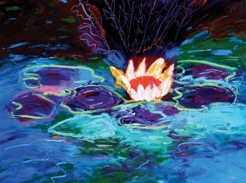 Monet's Water Lillies #1 36x48 Original Painting by Peter Karis