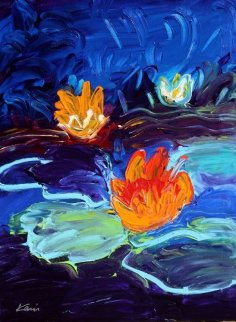 Monet's Water Lillies #3 24x18 Original Painting - Peter Karis