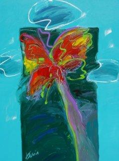 Thunder Palm, Low Country Sky 2012 48x36 Original Painting - Peter Karis