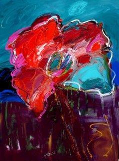 Picket Fence Rose Original Painting by Peter Karis