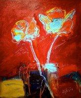 Deco Roses 2012 24x20 Original Painting by Peter Karis - 1