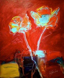 Deco Roses 2012 24x20 Original Painting by Peter Karis