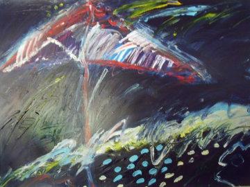 Beach Series 1987 42x53 Huge Original Painting - Peter Karis
