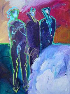 Anasazi #1 48x36 Huge  Original Painting - Peter Karis