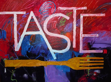 Taste 2014 57x45 Original Painting - Peter Karis