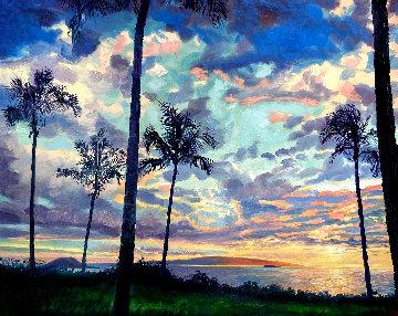 Untitled Hawaiian Seascape 62x74 Original Painting - Jan Kasprzycki