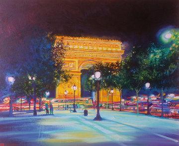 Arche De Triomphe, Solitude 1996 38x46 Original Painting - Jan Kasprzycki