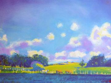 Cool Grass, Hot Day 48x56 Original Painting - Jan Kasprzycki