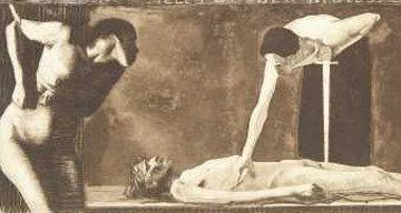 Aus Vieien Wunden Blutest Du, O Volk  1897 Limited Edition Print - Kathe Kollwitz