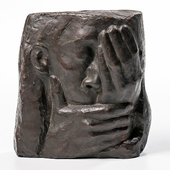 Die Klage Posthumous Casting Bronze Sculpture 1961 10 in Sculpture by Kathe Kollwitz
