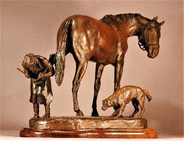 Farrier Bronze Sculpture 2012 19 in Sculpture - Kathleen Friedenberg