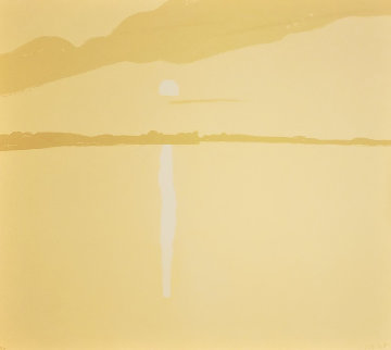 Sunset: Lake Wesserunsett 4 1972 Limited Edition Print - Alex Katz