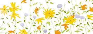 Summer Flowers Silkscreen on Canvas 2018 42x111 Limited Edition Print - Alex Katz