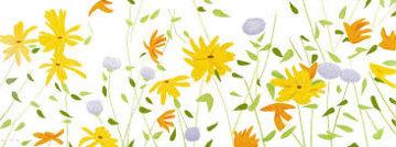 Summer Flowers Silkscreen on Canvas 2018 42x111 Super Huge Limited Edition Print - Alex Katz