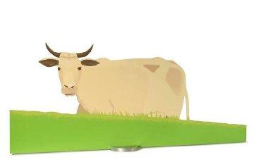 Cow Sculpture 41x58 Huge Sculpture - Alex Katz