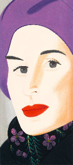 Purple Hat Ada 2017 Limited Edition Print - Alex Katz